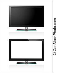 tv, 平らなスクリーン, lcd, 2