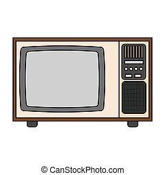 tv, 抽象的, 古い