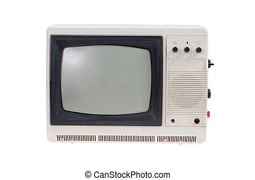 tv, 隔離された, セット, 型, 白