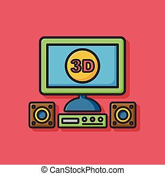 tv, 3, ikon