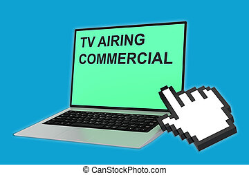 TV Airing Commercial concept
