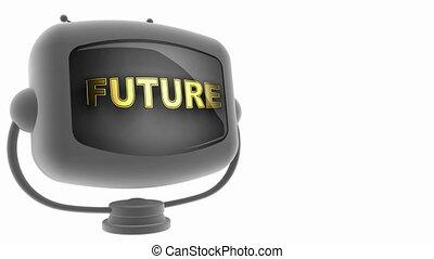 tv, alfa, futuro, unito, cappio