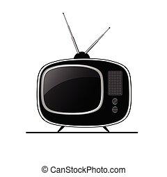 tv ancient black vector
