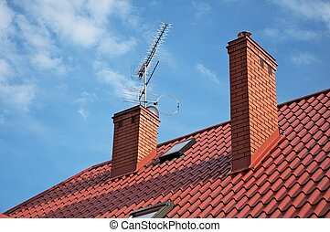 TV antenna on the roof - relay waves
