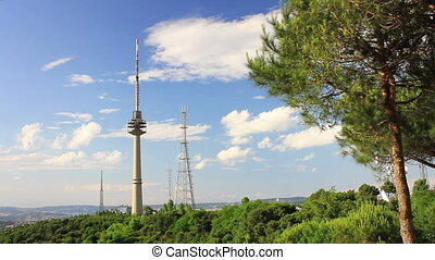 TV antenna tower - TV transmission antenna towers with...