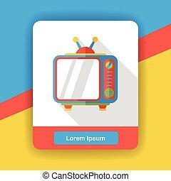 TV appliance flat icon