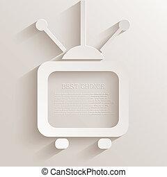 tv, arrière-plan., vecteur, eps10, icône