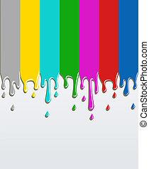tv, barre, segnale, concetto, fondo