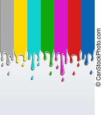 TV bars signal concept Background - Bars TV signal painted...