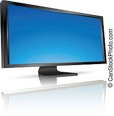 tv beeldscherm, lcd