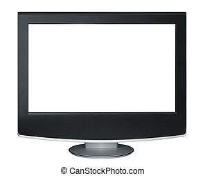 tv, bianco, isolato