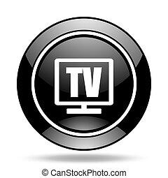 tv black glossy icon