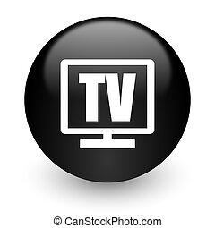 tv black glossy internet icon