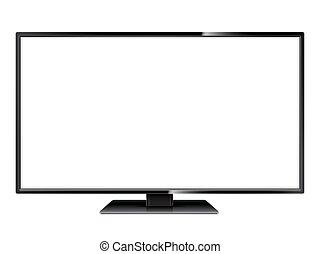 tv, blanc écran