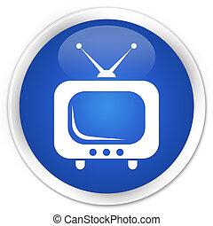 TV blue button