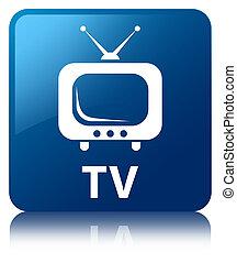 TV blue square button
