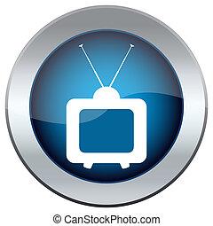 tv, bouton, image