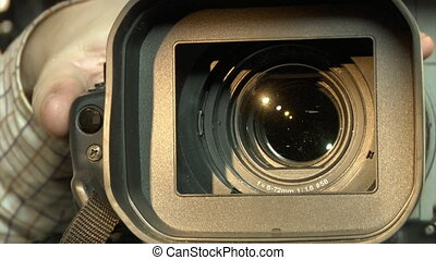 TV camera close-up