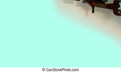 tv camera - dv-cam camcorder on the crane in studio