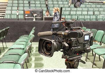 TV broadcast of the event from the concert hall