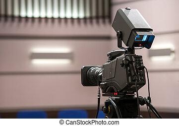 TV camera in film studios