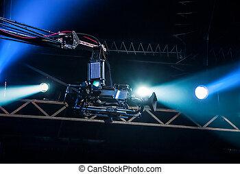 TV camera on crane