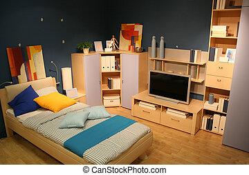 tv, chambre à coucher