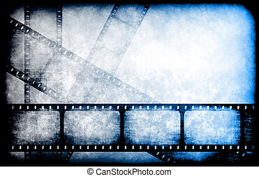 TV Channel Movie Guide on Abstract Background