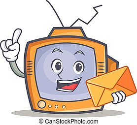 TV character cartoon object with envelope