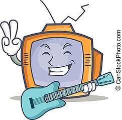TV character cartoon object with guitar