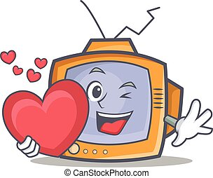 TV character cartoon object with heart