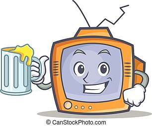 TV character cartoon object with juice