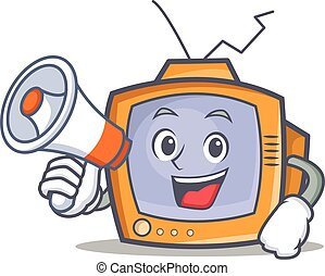 TV character cartoon object with megaphone