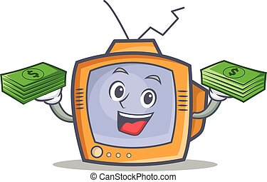 TV character cartoon object with money