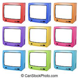 tv, collage