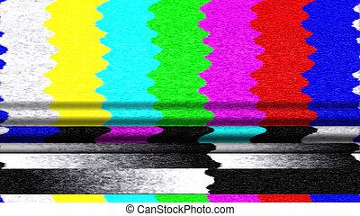 TV Color Bars 0213. Retro TV color bars malfunction.