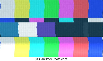 Tv color bars with snow and noise