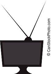 tv, colorare, vettore, o, illustrazione