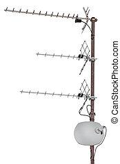 TV Communication Aerials Isolated