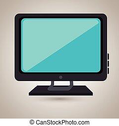 tv, conception, retro