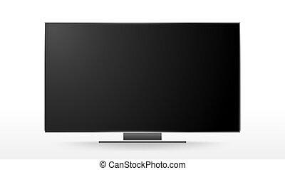 tv, conduzido, objeto, vetorial