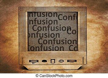 tv, confusion