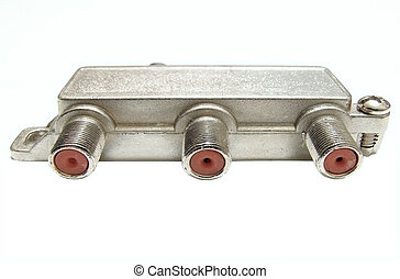 Metal connector for television cables