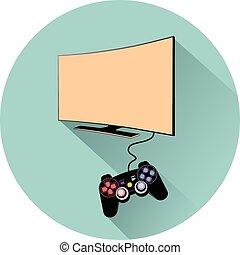 tv, console