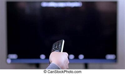 tv, contrôle, éloigné, changements, canaux