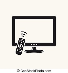 tv, contrôle, éloigné, icône