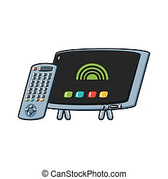 tv, contrôle, éloigné, portable