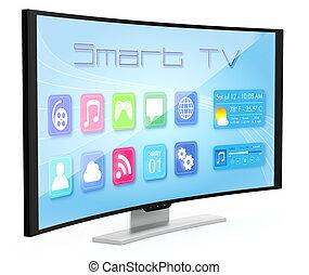 tv, courbé