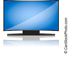tv, curvado