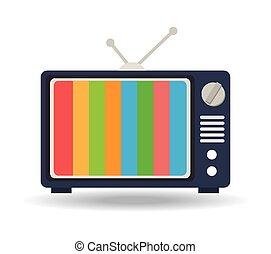 Mobile tv illustration design over a white background.